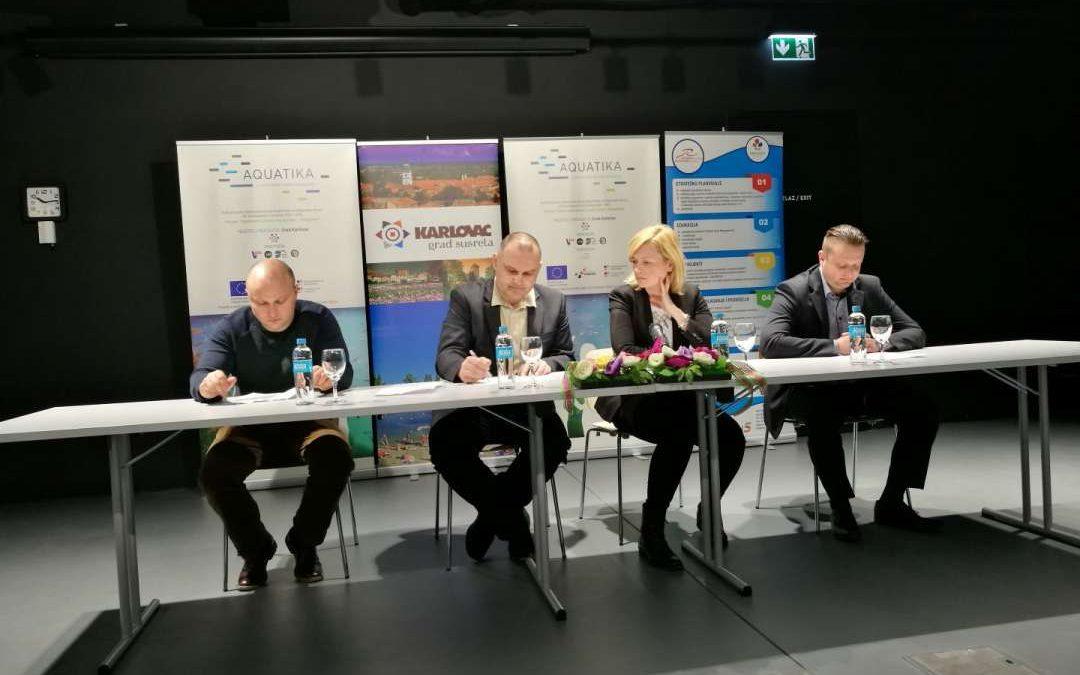"""Press konferencija s temom Najava konferencije """"Digitalno poslovanje i EU fondovi"""",  Aquatika"""