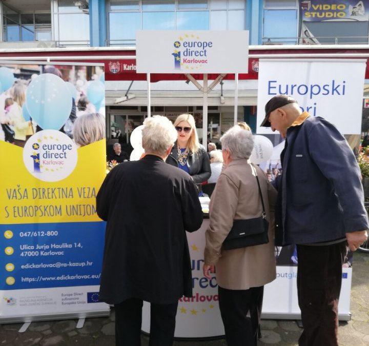 Promotivna kampanja #ovajputglasam ispred trgovačkog centra Kaufland
