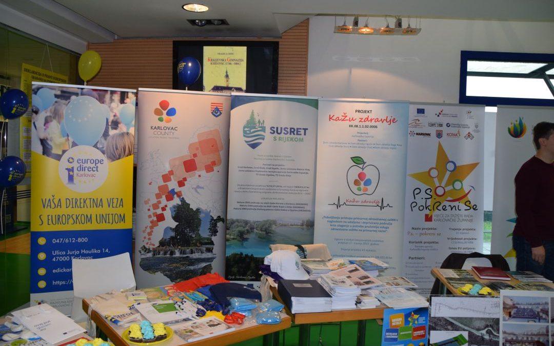 Proslava Dan Europe u organizaciji EDIC Karlovac i Javne ustanove Regionalne razvojne agencije Karlovačke županije