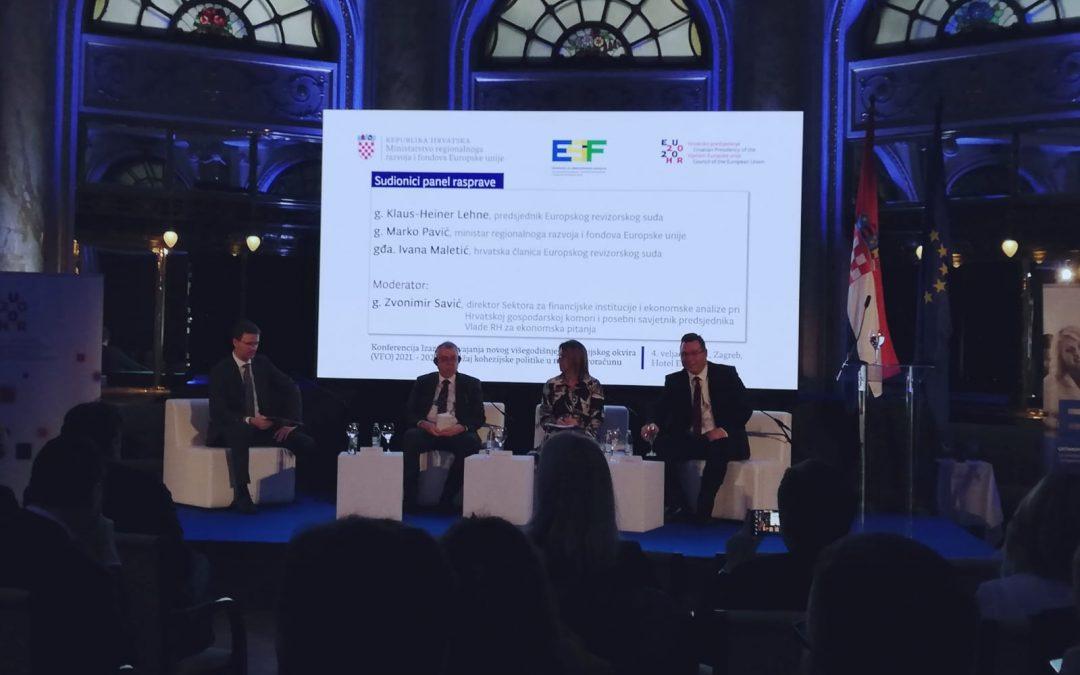 """Održana konferencija """"Izazovi usvajanja novog višegodišnjeg financijskog okvira (VFO) 2021. – 2027. i položaj kohezijske politike u novom proračunu"""""""