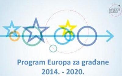"""Održan webinar """"Europa za građane 2014 – 2020: Bratimljenje gradova i Umrežavanje gradova"""""""