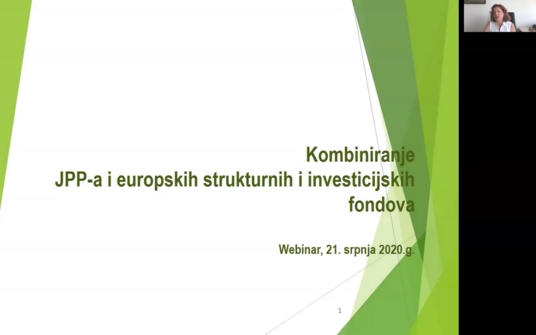 """ODRŽAN WEBINAR """"KOMBINIRANJE JPP-A I EUROPSKIH STRUKTURNIH I INVESTICIJSKIH FONDOVA"""""""