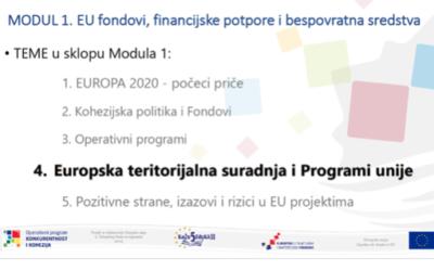 """Održan prvi modul edukacija u okviru provedbe projekta """"KaŽu5 EduKA II"""""""
