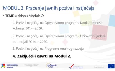 """Održan 2. Modul on-line edukacija u okviru provedbe projekta """"KaŽu5 EduKA II"""""""