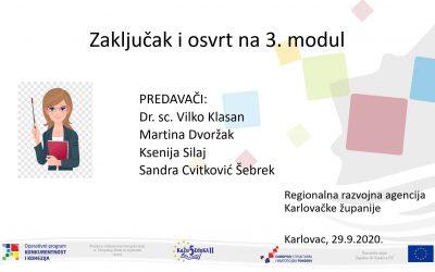 """Održan treći Modul edukacija u okviru provedbe projekta """"KaŽu5 EduKA II"""""""