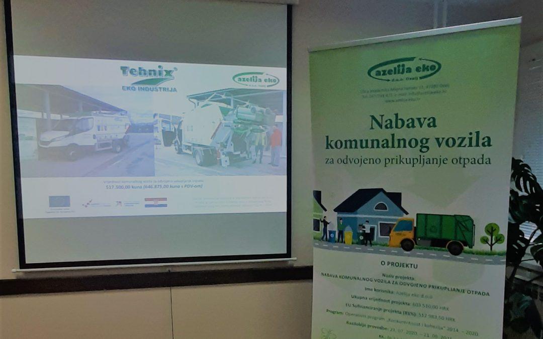 """Održana radionica projekta """"Nabava komunalnog vozila za odvojeno prikupljanje otpada"""""""