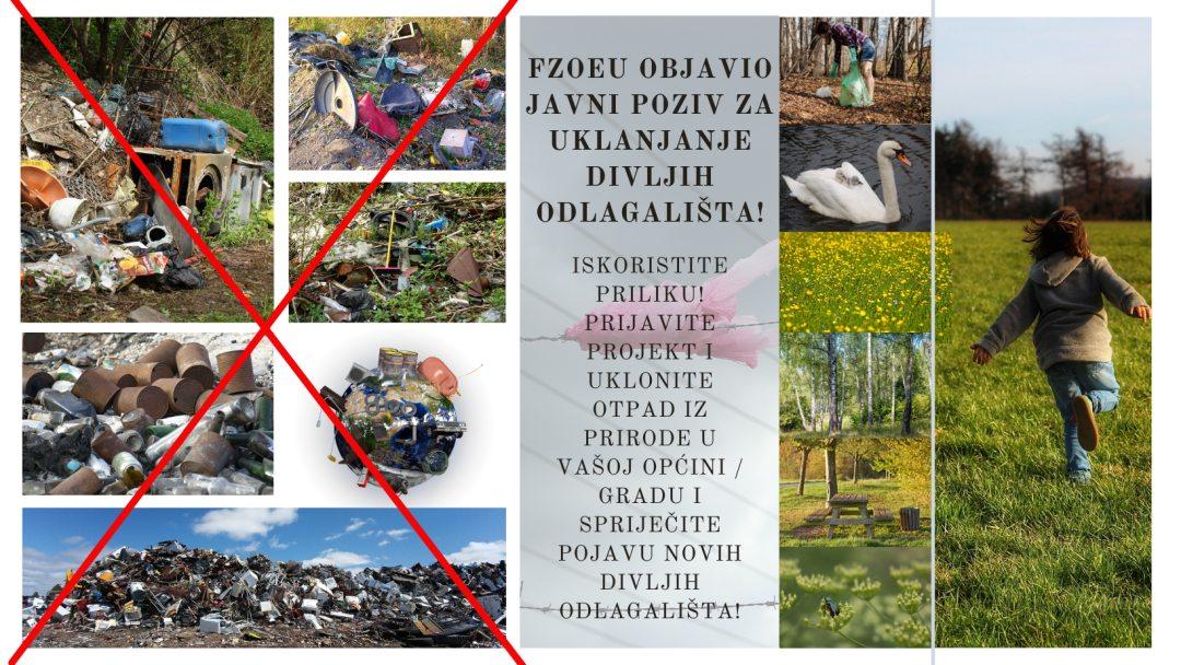 """Fond za zaštitu okoliša i energetsku učinkovitost objavio je Javni poziv za neposredno sufinanciranje uklanjanja otpada odbačenog u okoliš (tzv. """"divlja odlagališta"""") (ZO-4/2021)"""