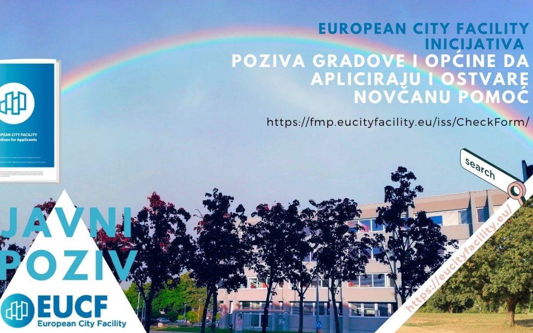 European City Facility inicijativa pozvala je gradove i općine koji imaju plan energetski održivog razvitka i prilagodbe klimatskim promjenama da, najkasnije do 31. svibnja, apliciraju i ostvare novčanu pomoć