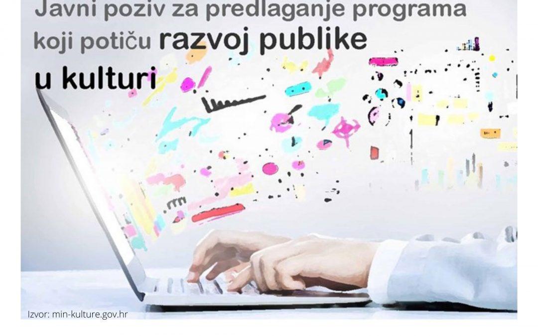 Objavljen javni poziv za razvoj publike u kulturi