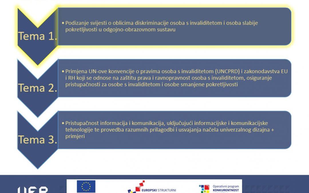 """Projekt RCK-KaRijERA – održana edukacija na temu """"Pristupačnost za osobe s invaliditetom"""""""